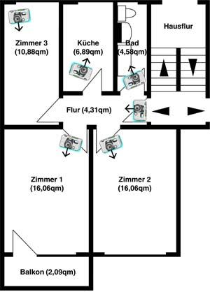 auf der linken seite finden sie den grundriss der ausgew hlten wohnung mit den. Black Bedroom Furniture Sets. Home Design Ideas